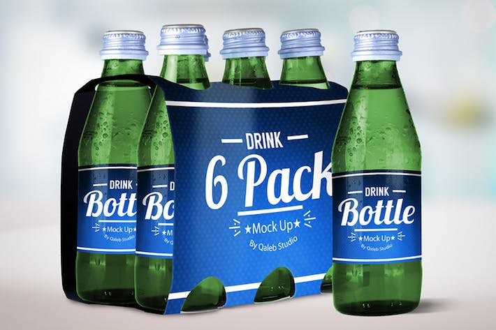 Thumbnail for Drink Bottle &  6 Pack Mock Up V.1