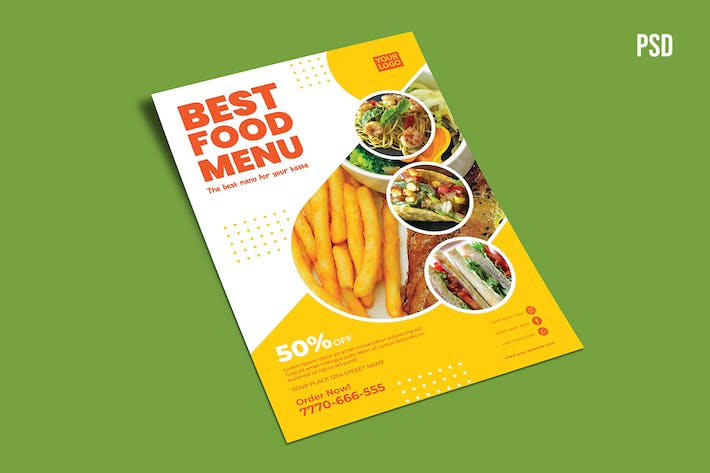 Thumbnail for best food menu flyer