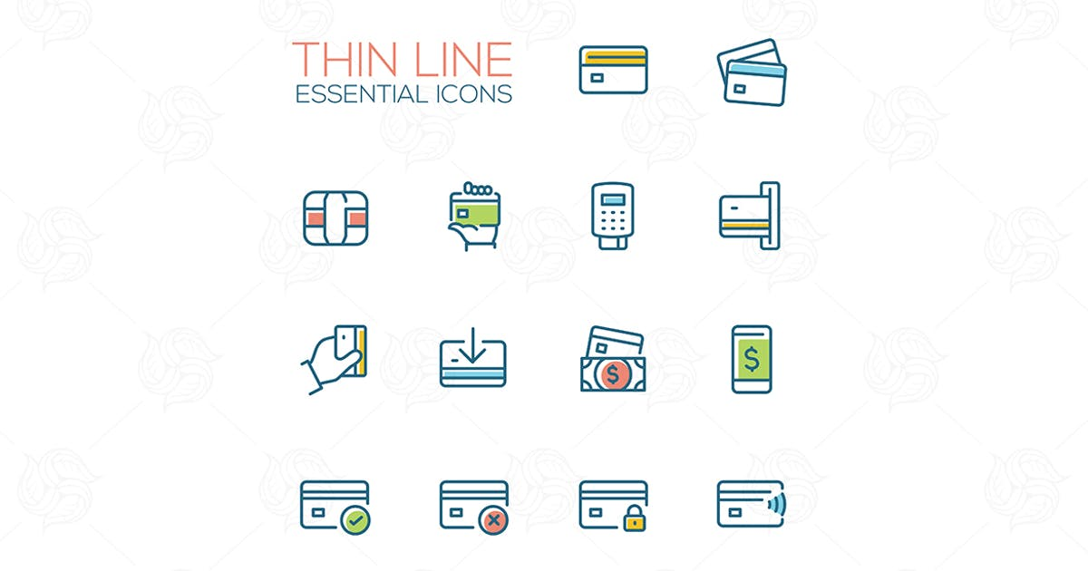 Download Essential icons - modern vector single thick line by BoykoPictures