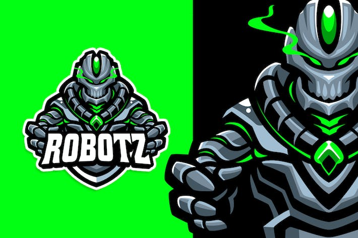 Thumbnail for Robot Esport and Sport Logo Template
