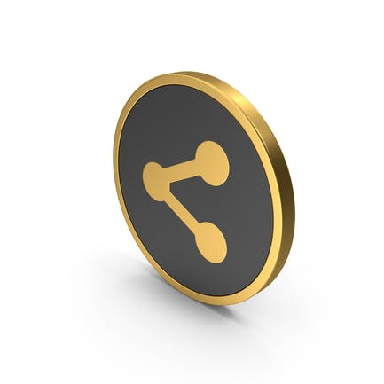 Gold Icon Share Button