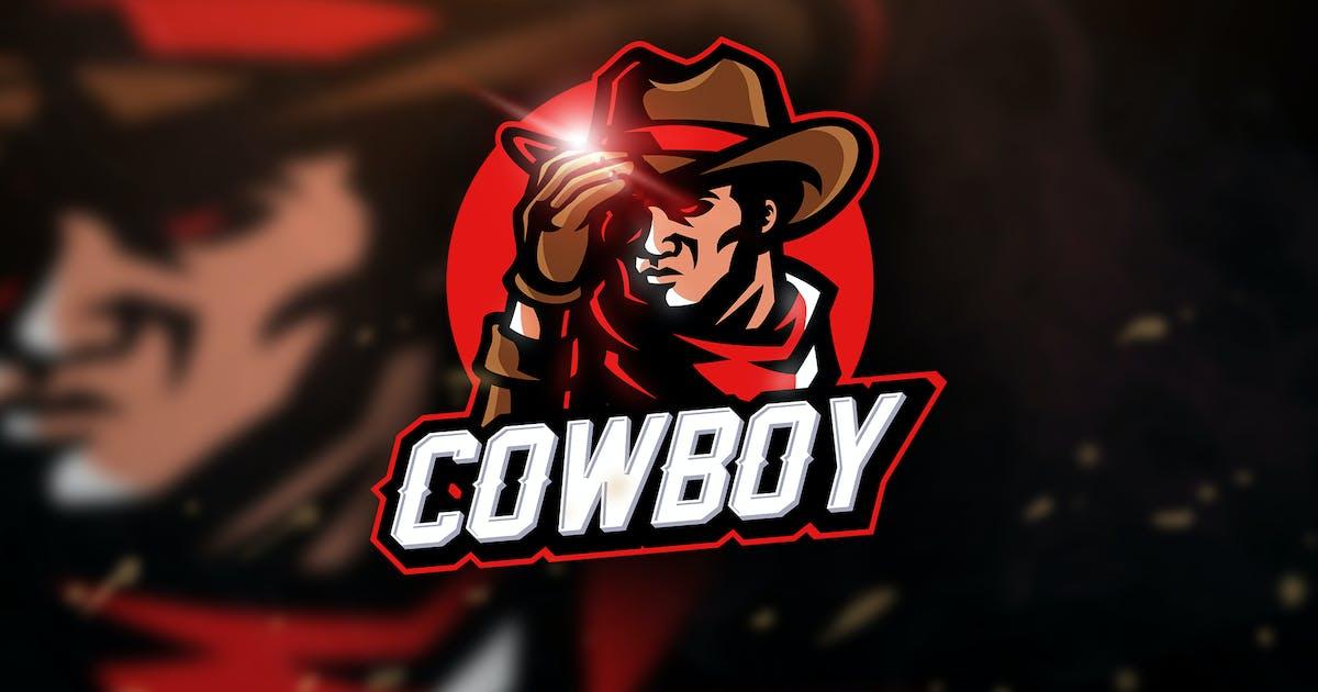 Cowboy - Mascot & Sport Logo by aqrstudio