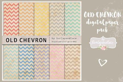 Old Chevron Digitalpapier Pack