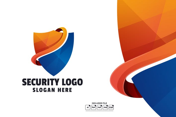 Abstract Security Gradient Logo Template