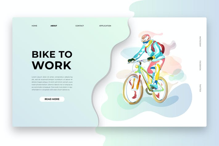 Cover Image For Simple Abstract - Bike To Work