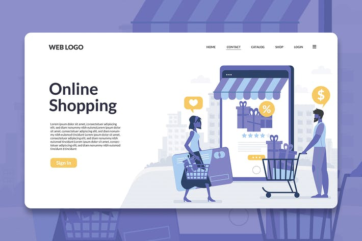 Thumbnail for Digital Shopping Landing Page