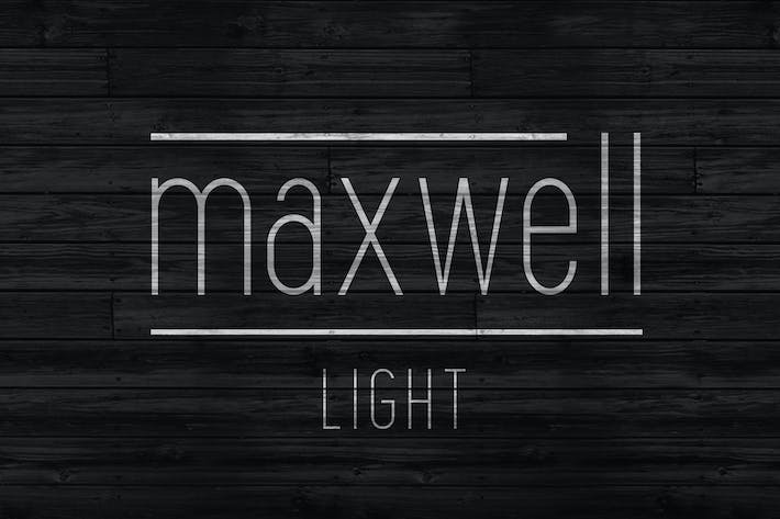 Thumbnail for Maxwell Sans Light