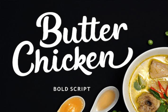 Thumbnail for Poulet au beurre - Font de script gras