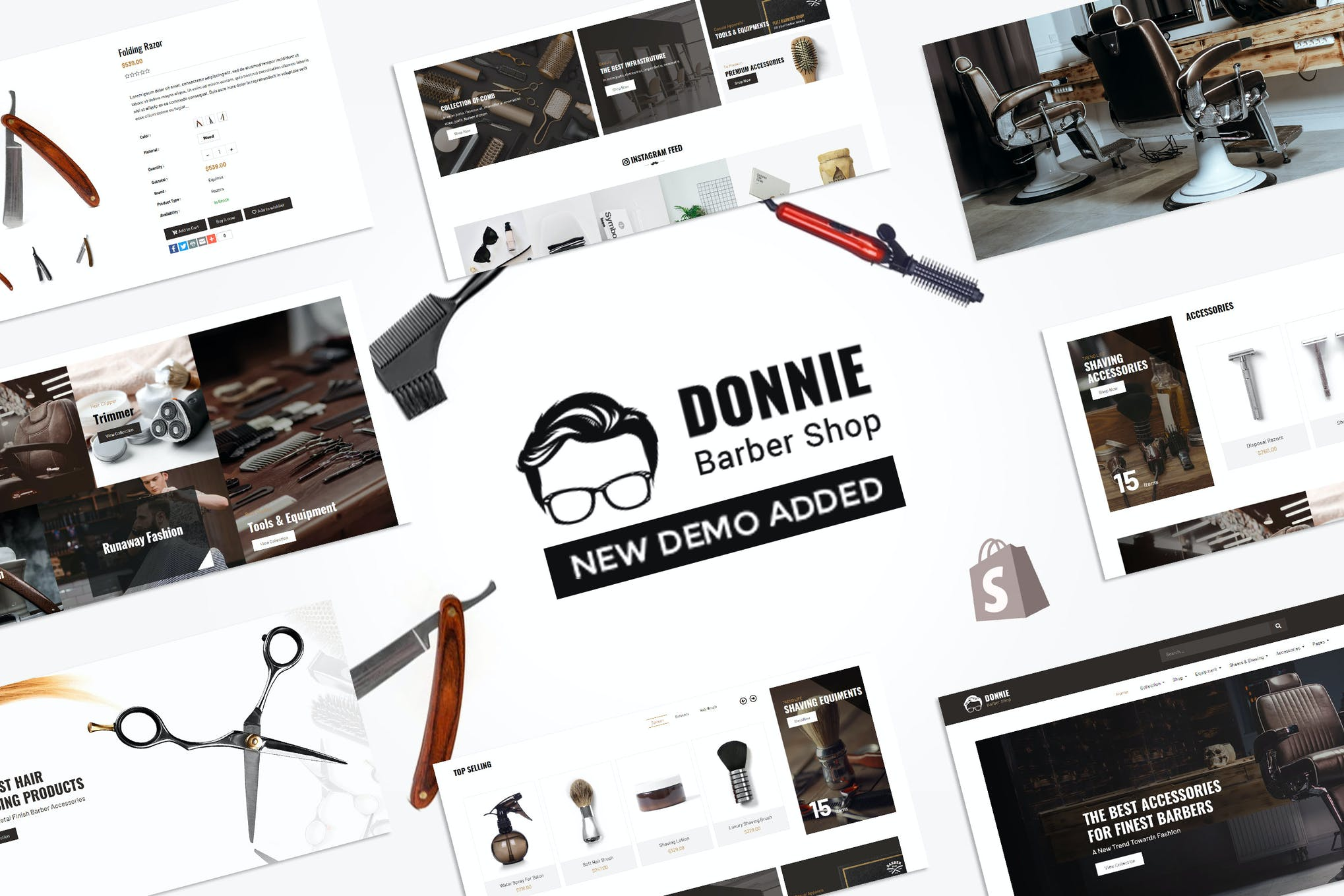 Donnie | Salon, Barber Shop Shopify Theme