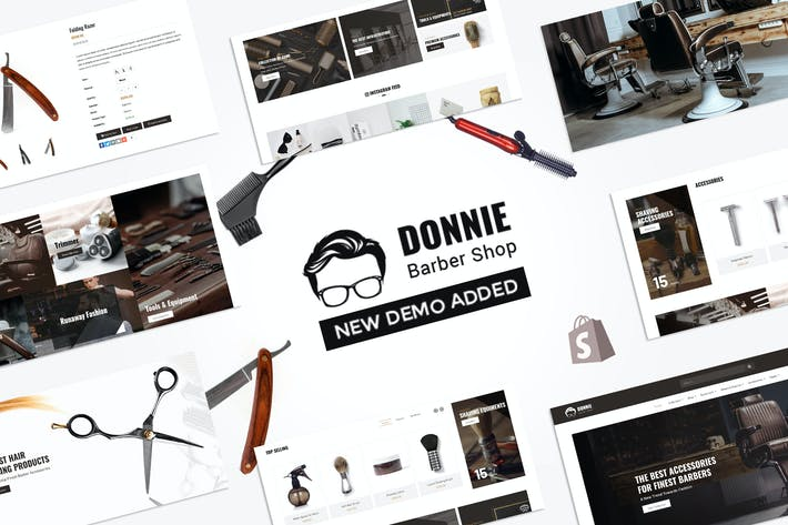 Thumbnail for Donnie | Salon, Salon de coiffure Shopify Thème