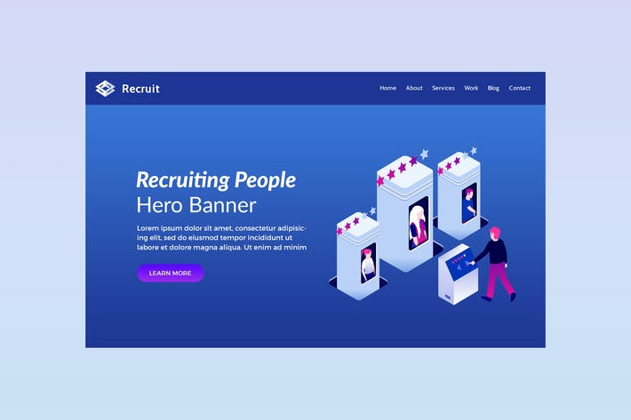 Recruit - Hero Banner Template