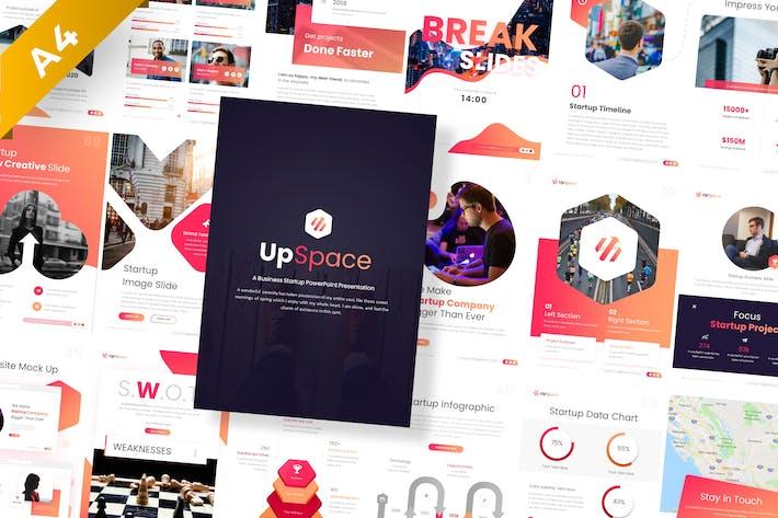 UpSpace Portrait Stratup PowerPoint Template