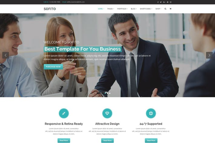 Thumbnail for Sofito - Multipurpose PSD Template