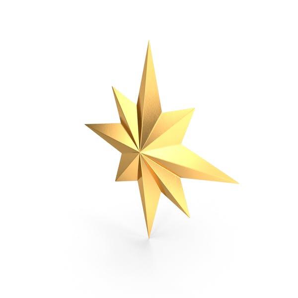 Gold Compass Star