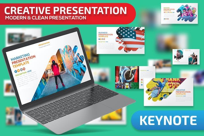 Cover Image For Creative Keynote Presentation Template