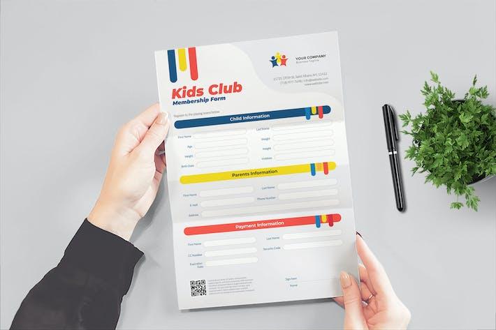 Thumbnail for Formulaire de l'école du club pour enfants