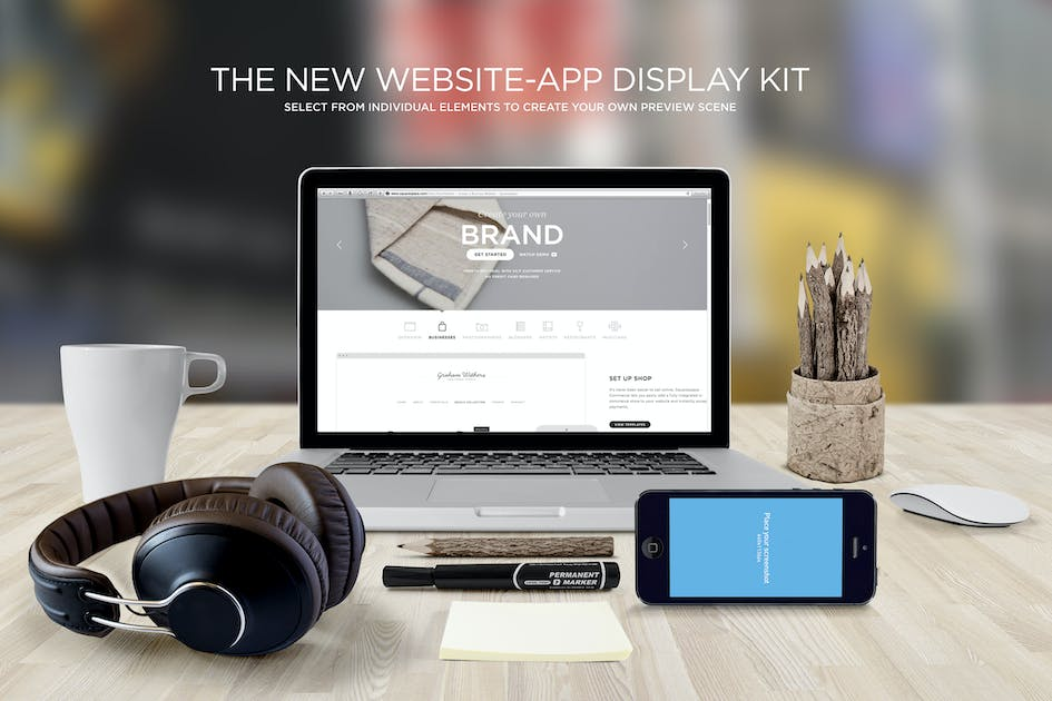 Download Responsive Web Display Kit Mock-Up by itscroma