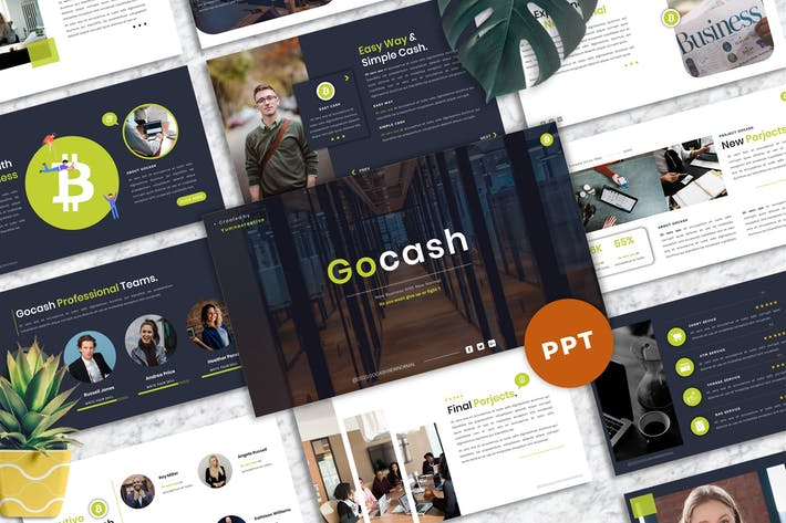 Thumbnail for Gocash - Finance PowerPoint Template