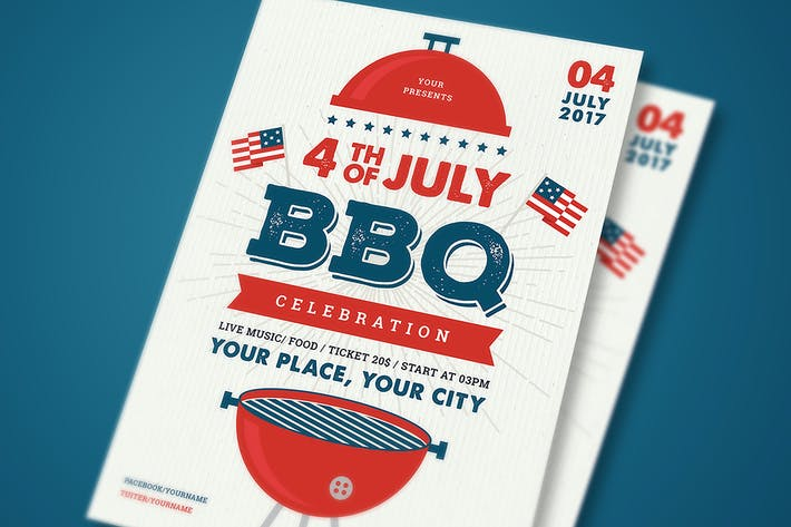 Thumbnail for 4th July BBQ Flyer