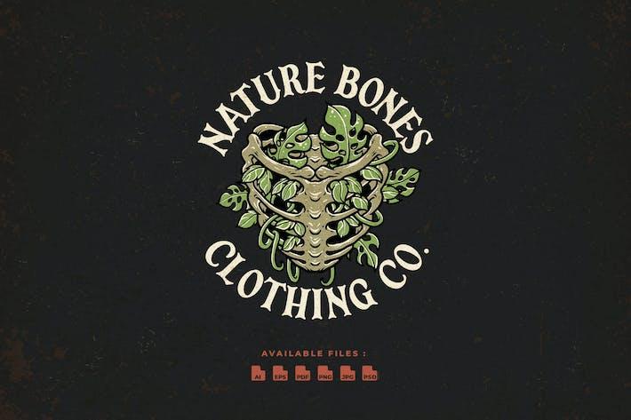 Nature Bones Hand Drawn logo