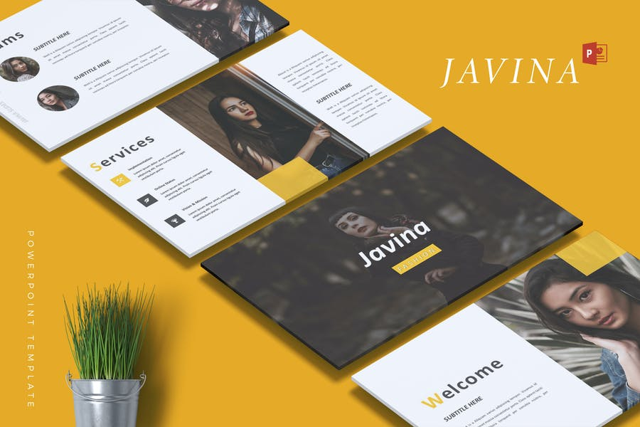 JAVINA - Fashion Powerpoint Template