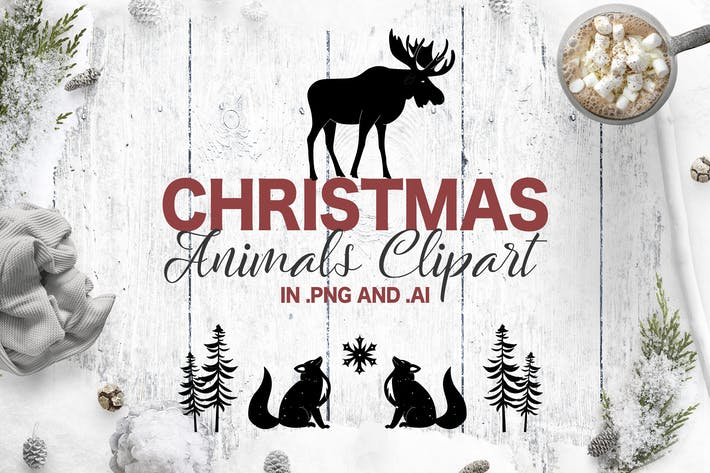 Thumbnail for Christmas Animals. Holiday Clipart