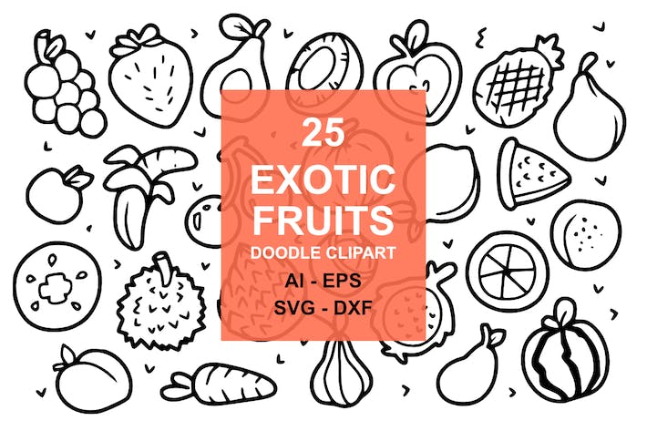 Thumbnail for 25 Exotic Fruit Doodles