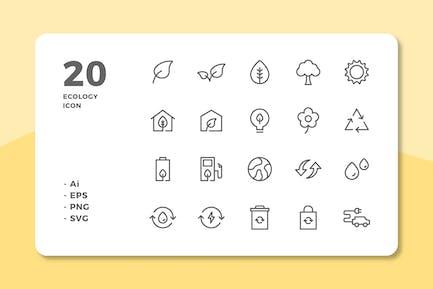 20 ÖkologieIcons (Linie)