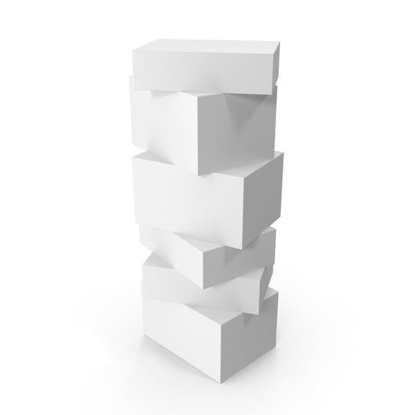 Стек белых коробок