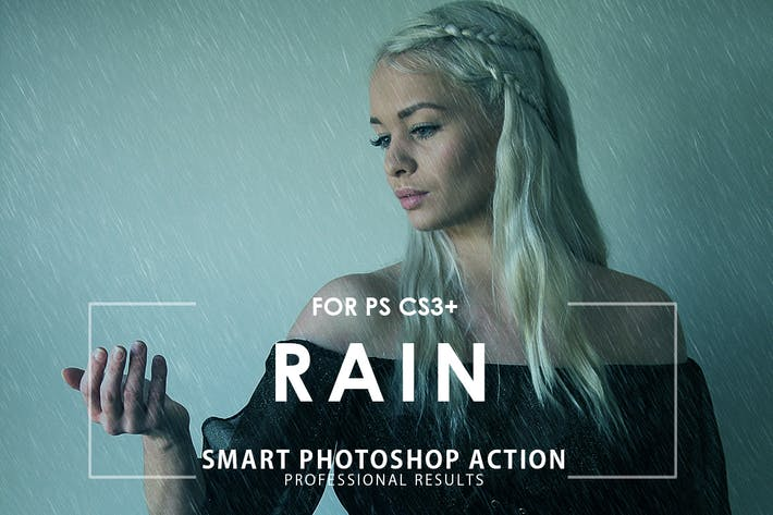 Thumbnail for Rain Photoshop Action