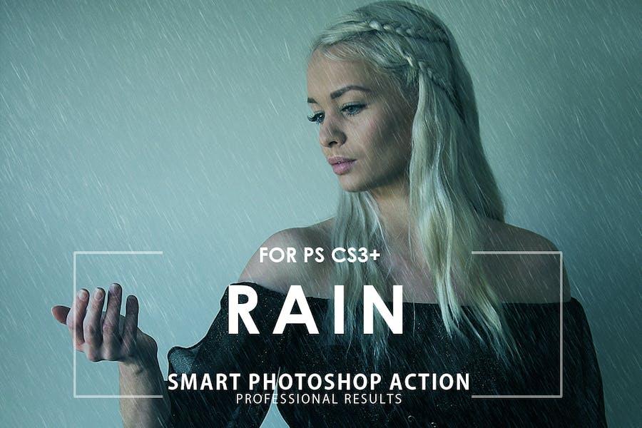 Rain Photoshop Action