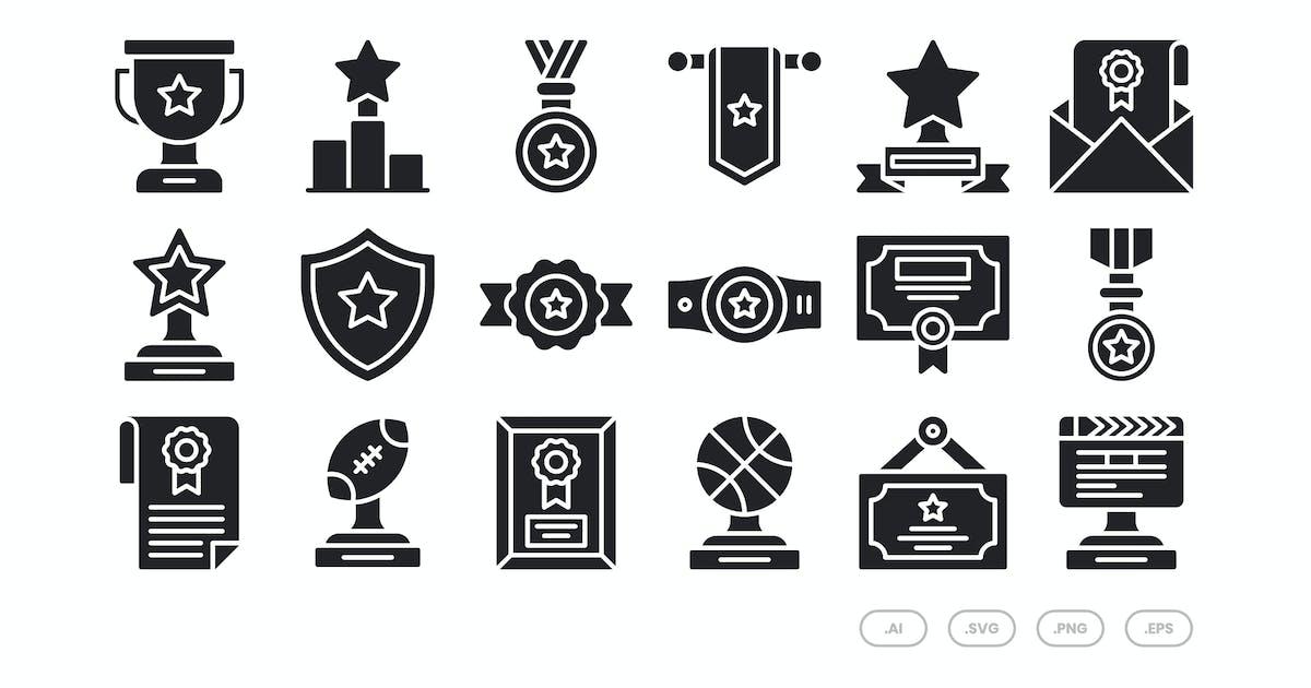 Download 20 Award Icons Set - Glyph by kmgdesignid