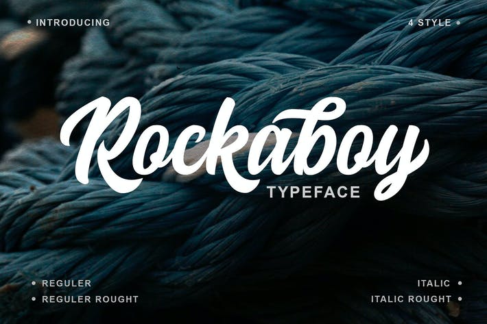 Thumbnail for Rockaboy 4 Style Font