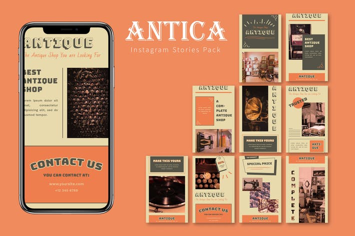Thumbnail for Antica - Instagram Story Pack