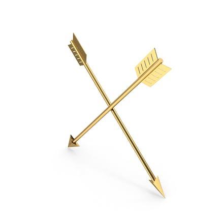 Flechas de oro cruzadas