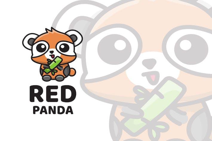 Thumbnail for Red Panda Cute Logo Template