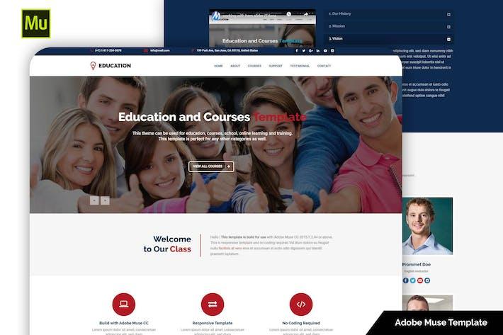 Адаптивный образовательный Шаблон Adobe Muse