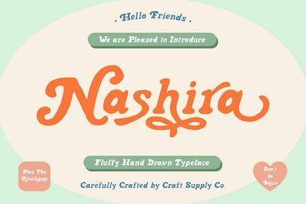 Nashira - Fluffy Hand Drawn Typeface