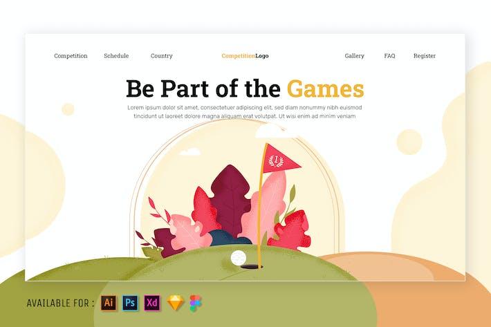Thumbnail for Golfplatz - Web-Illustration