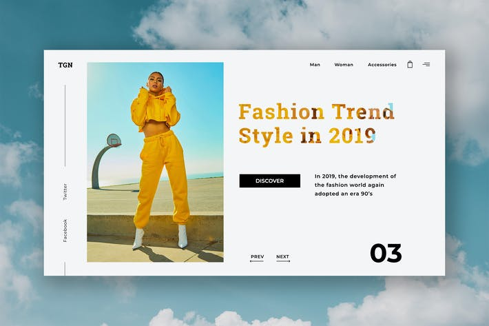 Thumbnail for Trend Fashion Hero Header Template