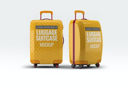 Luggage Suitcase Mock-up