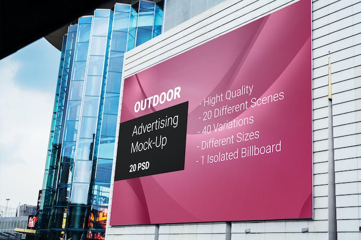 Thumbnail for Billboard Outdoor Advertising Mock-Up