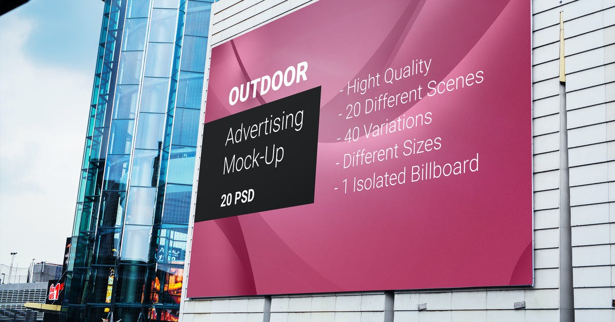 Download Billboard Outdoor Advertising Mock-Up by Temaphoto