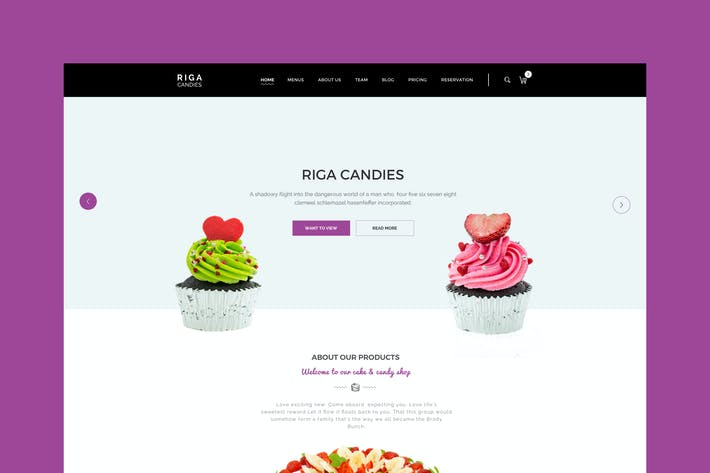 Thumbnail for Riga - Candy & Sweets HTML Template