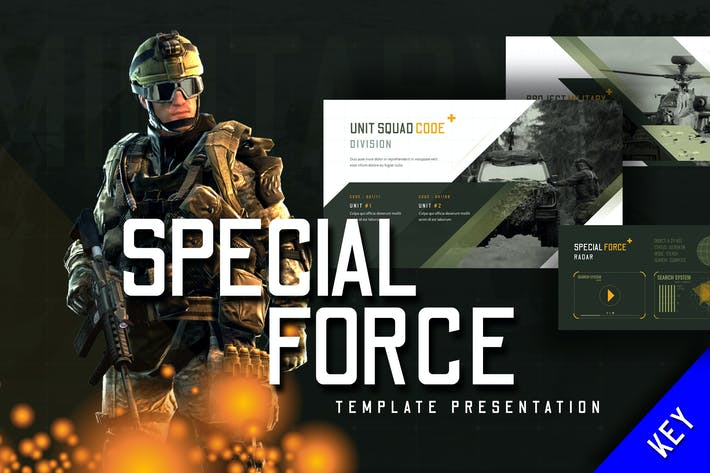 Thumbnail for Special Force - Keynote Template