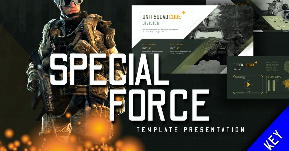 Download Special Force - Keynote Template by jegtheme