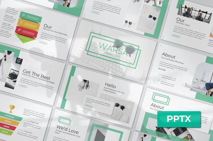 Thumbnail for Warsa Powerpoint Template