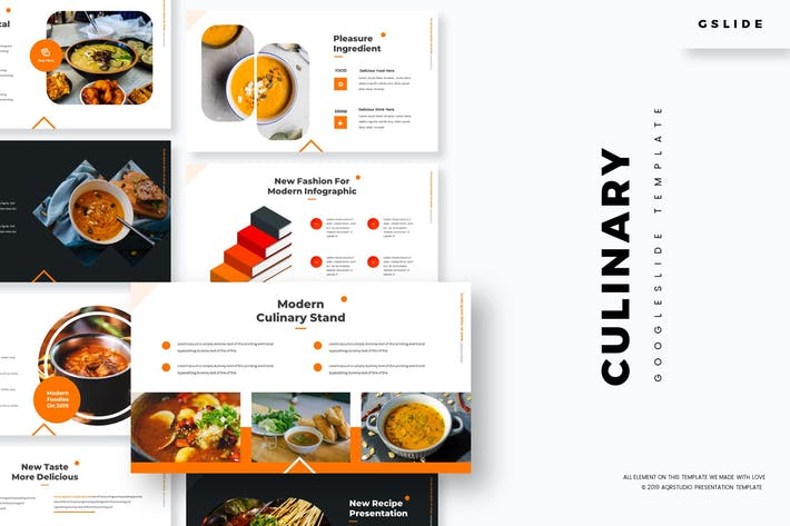 Cover Image For Culinary - Google Slides Template