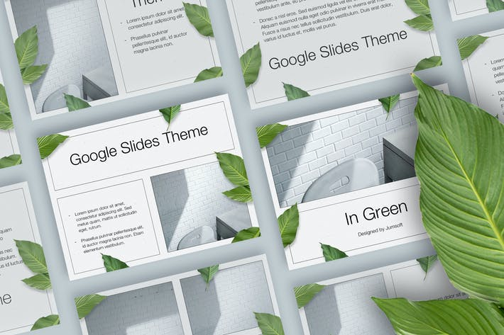 Thumbnail for В зеленом Google Слайды Тема