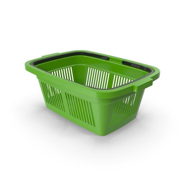 Thumbnail for Plastic Shopping Basket Green